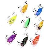 Alomejor 8 Colores 5 cm / 6 g cebos de Pesca Artificial simulación de Peces señuelos cebos con Ganchos para la Pesca al Aire Libre