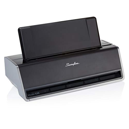 Swingline Electric 3 Hole Punch, Commercial Hole Puncher, 28 Sheet Punch Capacity, Platinum (74535)