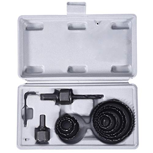 Hole Saw Set,11PCS Hole Saw Bit Kit,Max Size 3/4' and Min Size 2 1/2',High Precision Cutting Teeth,Cut Clean, Smooth,and Precise Holes Through Wood,Plastic,PVC Board and Drywall