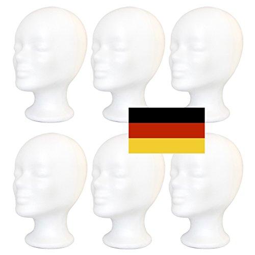 6-Pack - Styroporkopf Standard - TOP Marken-Qualität aus deutscher Herstellung - AKTIONSPREIS