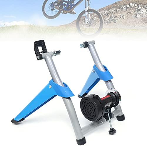 Bicicleta estática Fluid Bike Trainer plegable, para 26-29 pulgadas, soporta hasta 100 kg. Entrenador de resistencia con rueda reductora de ruido, entrenamiento en casa