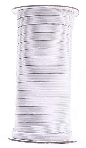 Con cordoncino elastico piatto. bianco 5mm