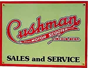 signs-unique vp Cushman Motor Scooter - Placa de Porcelana en Acero (REDUCIDO TO Clear)