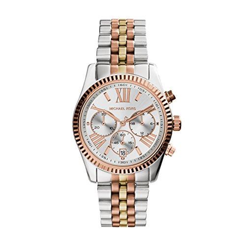 Michael Kors Damen Chronograph Quarz Uhr mit Edelstahl Armband MK5735