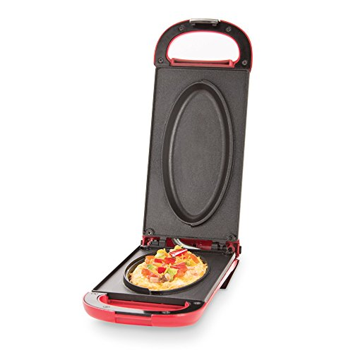 Dash Omelette Maker with Dual Non Stick Plates - Perfect for Eggs, Frittatas, Paninis, Pizza Pockets & Other Breakfast, Lunch, and Dinner Options - Red