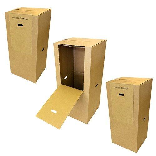 3 Kleiderboxen Spedition 2.60 BC Welle 600 x 510 x 1350 mm thumbnail