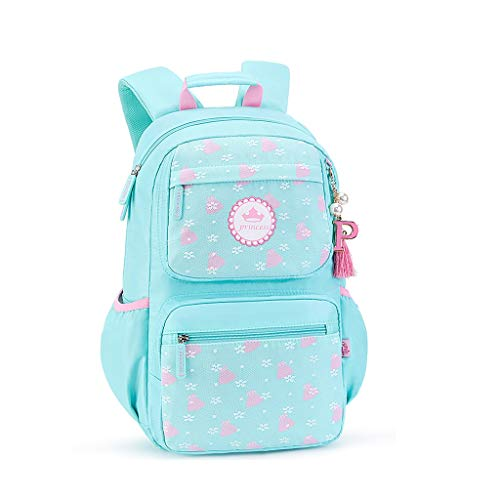 SHINY X-LOVE Rucksack for Mädchen Schultasche, Kinder Rucksäcke for 1-6 Klässler Rucksack for Kinder Teens Gelegenheits Daypacks Reisetasche (Color : Blue)