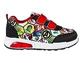 Avengers Zapatillas Deportivas para Niños, Zapatos con Luces, Deportivas Ligeras, Cierre de Velcro Fácil, Regalo para Niños, Talla EU 32