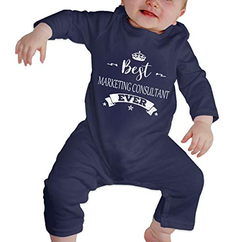 YtoaBmebqsu Best Marketing Consultant Ever 1 Fashon Toddler Baby Clothes Navy 12M