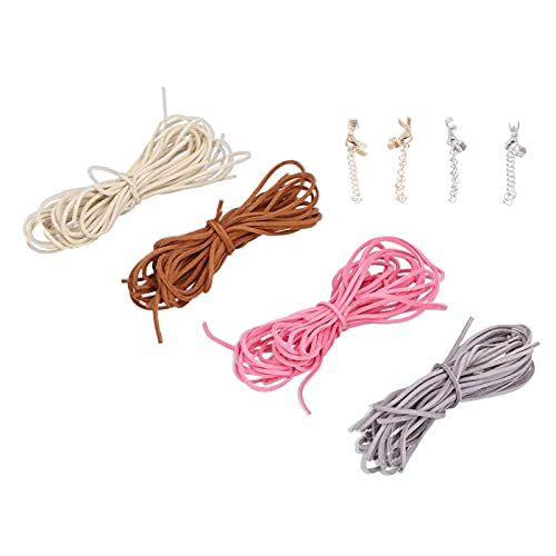 Tnfeeon Cuerda de Pulsera de Bricolaje, Cuerda de Abalorios de Terciopelo de 5 mm, Hilo de Cuerda para joyería, Hilo para Hacer Joyas, Collar, Pulsera, Abalorios