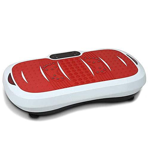 CARACHOME Plataforma vibratoria silenciosa, Equipo de Entrenamiento en casa con Bluetooth y Control Remoto, Plataforma de vibración de Cuerpo Completo, máquina de Ejercicios, Carga 150KG