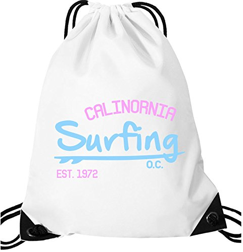 EZYshirt Surfing California Turnbeutel