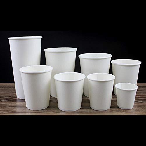 100 weiße Einwegkaffeetassen 2 Unzen 50 ml Papierbecher mit kleinem Geschmack 7 Unzen 200 ml 8 Unzen 250 ml Wasser Tee Saft Tasse Wohnaccessoires-Weiß_8 Unzen_250 ml_100 Stück