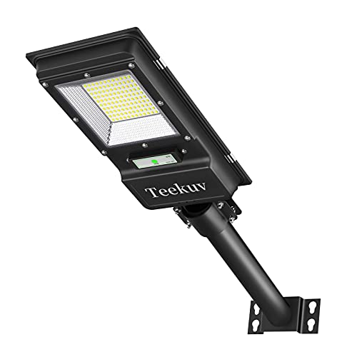 6000LM Solar Street Light,120 LEDs Solar Powered Dusk to Dawn Outdoor Motion Lights,LED Security Flood Light for Yard,Garden and Playground,IP65 Waterproof Commerical Light,Pack of 1