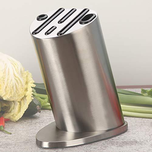 Bloc à Couteaux Universel, Porte-Couteaux En Acier Inoxydable - Pour Un Rangement SûR Et éConome En Couteaux, Design Unique à 6 Positions