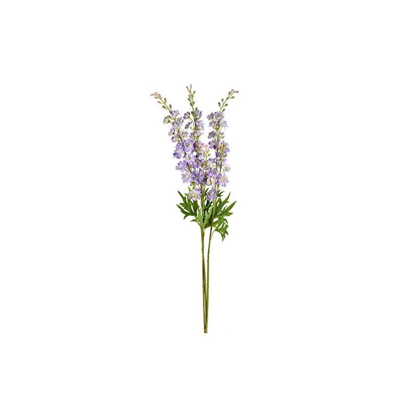 """silk flower arrangements vickerman wild lupine spray artificial-flowers, 33.5"""", purple, 3 piece"""