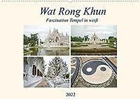 Wat Rong Khun - Faszination Tempel in weiss (Wandkalender 2022 DIN A2 quer): Ausgewaehlte Bilder vom Wat Rong Khun Tempel in Chiang Rai, Thailand (Monatskalender, 14 Seiten )