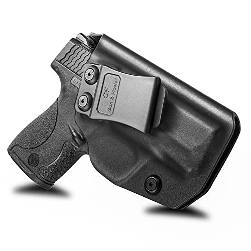 M&P Shield 9mm Holster, IWB Polymer Concealed Carry M&P Shield Holster for M&P Shield .40 3.1''|Smith and Wesson MP Shield 9mm Holster|Adj.Cant&Retention | Fiber-Reinforced Polymer & Kydex Available