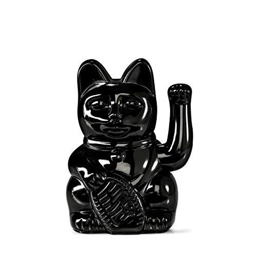 DONKEY Products   Lucky Cat Winkekatze   Japanische Deko-Katze   Verschiedene Designs und Farben, Farbe:schwarz