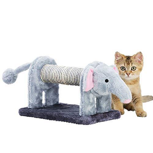 bingopaw 猫爪研ぎ 麻縄 象型 猫用おもちゃ ぬいぐるみ 小型 ケージ用 屑が出にくい 安全 耐噛み 室内飼い 鈴付き ストレス解消 運動不足対策 プレゼント 可愛い おしゃれ