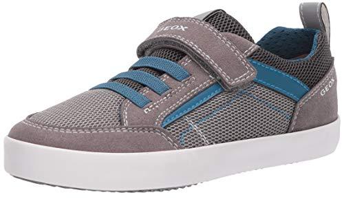 Geox Jungen J Kilwi Boy E Sneaker, Grau (Grey/Petrol C0386), 24 EU