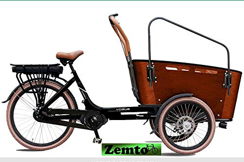 Elektro Transportfahrrad/Bakfiets Vogue Carry 7 Gang Braun-Schwarz*