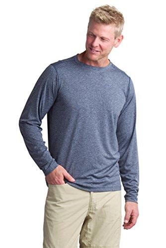 ExOfficio Men's Bugsaway Tarka Long Sleeve, Navy, XX-Large