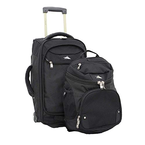 High Sierra AT3 Rolling Backpack, Black, 22-Inch