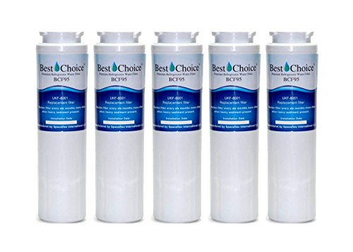 Best Choice UKF8001 Refrigerator Water Filter Compatible With Maytag UKF8001AXX UKF8001P Whirlpool 4396395 469006 EveryDrop Filter 4 EDR5RXD1 Puriclean II Certified Cartridge (5-Pack)