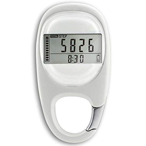 Maizad 3D Digital Pedometer with Clip Simple Walking Step Counter for Men Women Kids Track Steps and Miles/Km Calories Burned amp Activity Time 7 Days Memory
