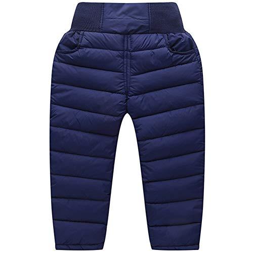 G-Kids Kinder Baby Daunenhose Stepphose Schneehose Dicke Warm Winter Kleinkinder Leichte Daunen Hose Winterhose für Junge Mädchen Dunkelblau 100