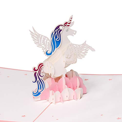 3D Unicorn Greeting Cards,Birthday Card,Anniversary Card,Graduation Card,Wedding Card,Children's Day Card,Christmas Card