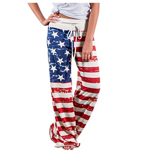 Check Out This Wide Leg Yoga Pants for Women - American Flag Yoga Pants Drawstring Waist Pants at Ho...