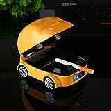 ELECTROPRIME 960D Yellow Car Shape Ashtray Multicolor Optional Smokeless Ashtray USB