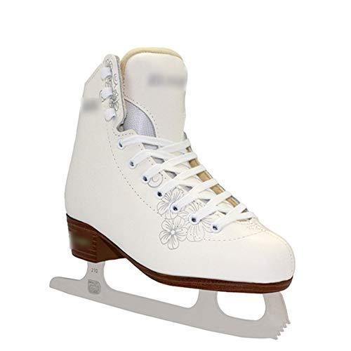 Rollschuhe Walzer Echtes Leder Rostfreier Stahl Schlittschuhe Roller Skates Kind Eishockey Schuhe Eisschnelllauf,SIZE33:208length