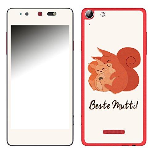 DISAGU SF-106693_1006 Design Folie für Wiko Selfy 4G - Motiv Beste Mutti - Eichhörnchen