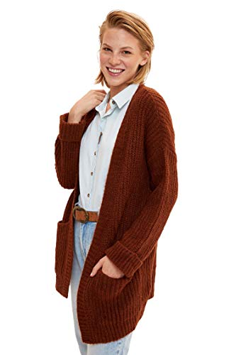 DeFacto Woman Tricot Cardigan Oversize FIT LT.Brown K9637AZ BN411,L