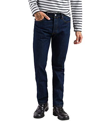 Levi's 501 Original Fit Jeans Vaqueros, Rinse Blue, 28W / 30L para Hombre