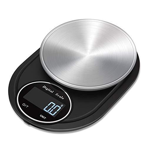 Báscula de Cocina Grande, Balanza Cocina de Acero Inoxidable, Peso Cocina Digital con Alta Precisión, Balanza de Alimentos Multifuncional, con Pantalla LCD,3kg/0.1g