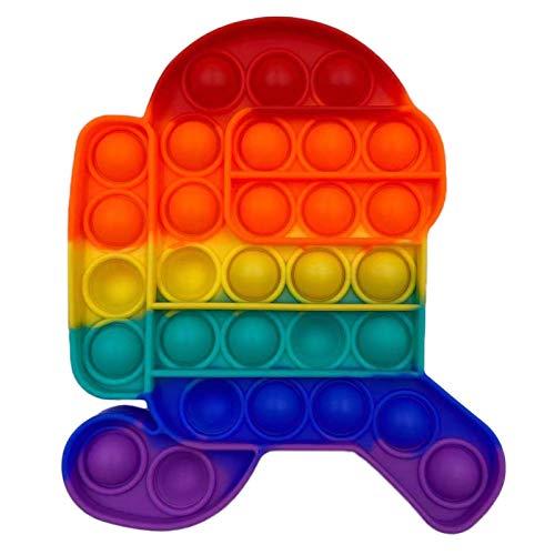 Fidget Toy Antistress Spielzeug Anti Stress Sensorik Popit Figetttoys, Simple Dimple Fidget Toy Figuren Ball Figet Squishy Bubble Push Pop für Erwachsene und Kinder (Among us B5)