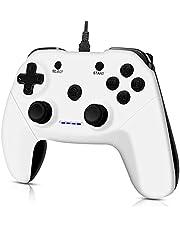 CHEREEKI PC-controller, bekabelde gamecontrollers voor pc, PS3, Android, tv-box, Steam Joystick gamepad met dubbele vibratie, plug and play