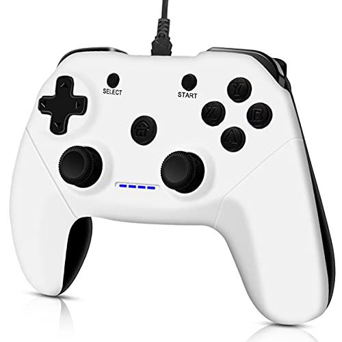 CHEREEKI PC Controller, Kabelgebundener Gaming Controllers für PC, PS3, Android, TV Box, Steam Joystick Gamepad mit Dual Vibration, Plug and Play