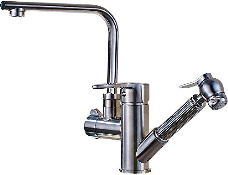 LHbox Das Badezimmer Küche Wasserhahn Warmes und Kaltes Becken Tippen Sie auf Teller Waschbecken Mischbatterie 3 Ziehen