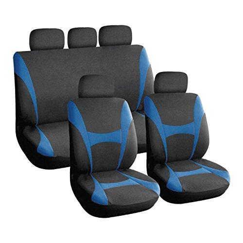 XtremeAuto Universal-Autositzbezüge-Set für Vorder- und Rücksitze, strapazierfähig, Blau