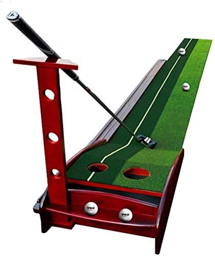 PROCTICA DE GOLF RACK Ladder Golf Putting Mat Green con la función de regreso de la bola automática Función de golf Ayuda de entrenamiento de la práctica de golf para la oficina en casa interior al ai
