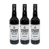 Vinagre de Jerez de 75 cl - D.O. Vinagre de Jerez - Bodegas Delgado Zuleta (Pack de 3 botellas)