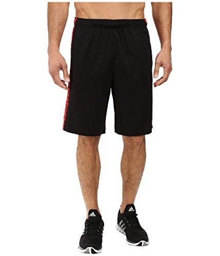 adidas Performance Men's Essential Print Shorts, X-Large, Black/Ray Red Black