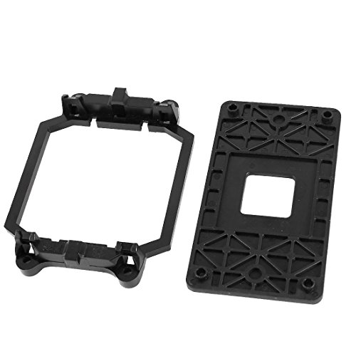 Sourcingmap® AMD CPU Lüfter Halterung Ständer Standfuß aus schwarzem Kunststoff für Sockel AM2 AM3 de