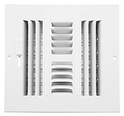 Accord Ventilation Sidewall/Ceiling Register with 4-Way Design