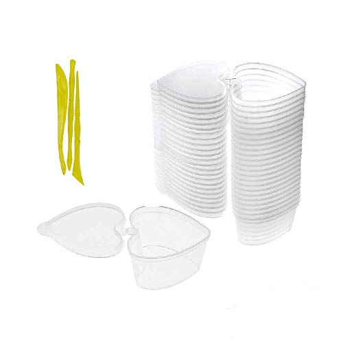Herzform Schleim Behälter,Simuer 24Pack Slime Container Bead Aufbewahrungsbehalter Box mit Deckel